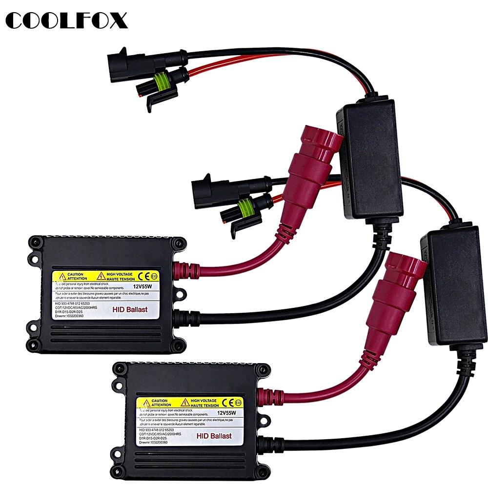HID Ballast Xenon H7 Digital Block Ignition Unit Control Transformer DC 12v 55w For All Xenon Light Kits H4 H11 H1 H3 9005 9006