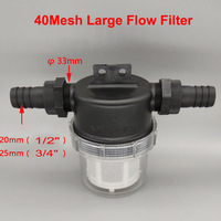 NuoNuoWell 20mm 25mm Visible Pipe Filter Connector Large Flow Garden Irrigation Agricultural Chemicals Supplies