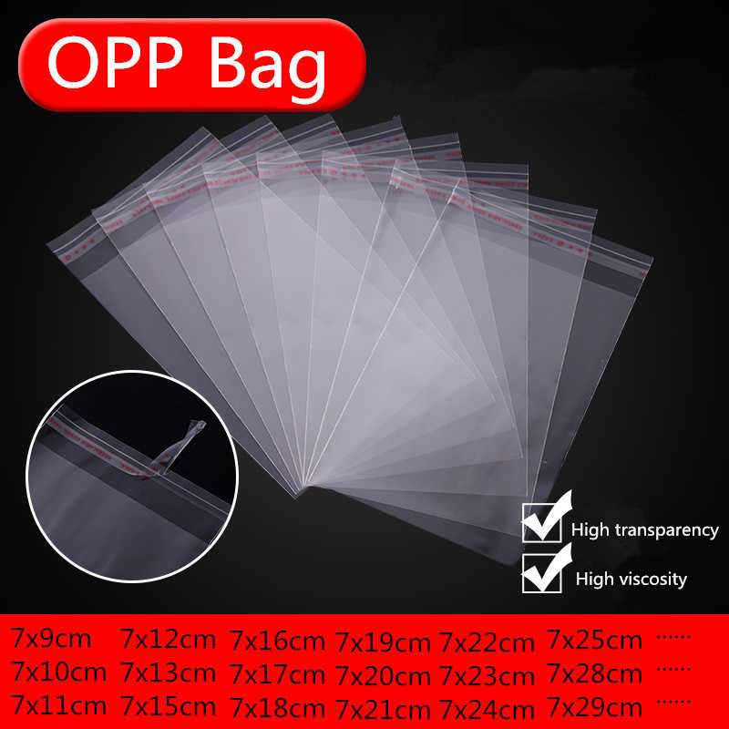 100pcs 7cm Transparent Self Sealing Plastic Bags Gift Jewelry Packaging Bag Self Adhesive Resealable Cellophane Poly OPP Bag 66