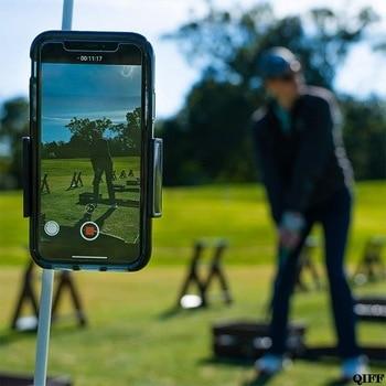 Držalo za snemalnik golf gugalnice, držalo za mobilni telefon, v katerem je pripomoček za vadbo trenerja