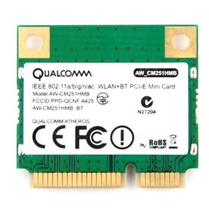 Image 2 - Dual Band 433Mbps Atheros QCA9377 Wifi + Bluetooth 4.1 Wlan 802.11 Ac 2.4G/5Ghz Mini Pci E draadloze Netwerkkaart AW CM251HMB