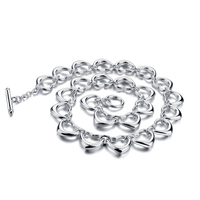 Solid 925 sterling silver women pendant necklace.Fashion 15 mm length 45 cm wide weight of 60 g necklace. silver jewelry charm