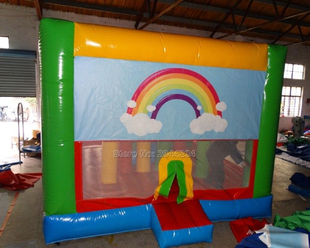 Parc d'attractions populaire tour grand trampoline maison de rebond et toboggan combo enfants équipements de jeux