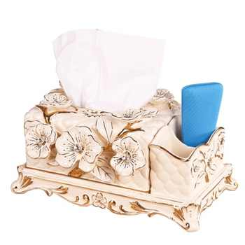Céramique multi-fonctionnelle créative européenne salon table basse télécommande boîte de rangement serviette boîtes de pompage
