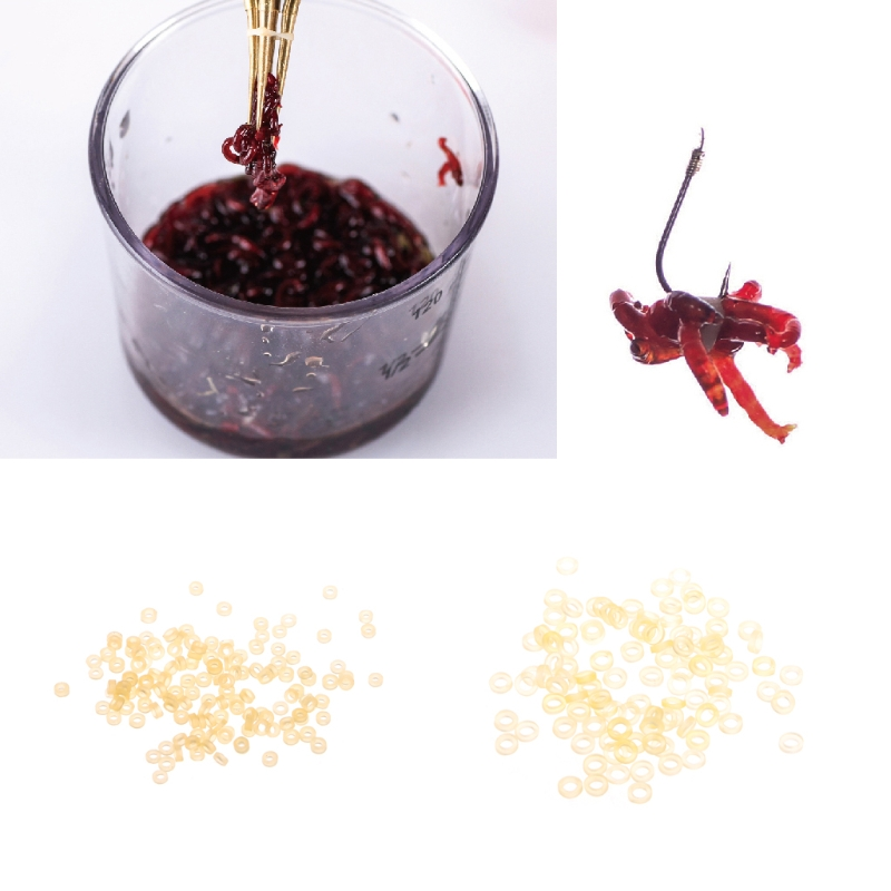1Set Fishing Bloodworm Bait Granulator Rubber Band Lure Tackle Accessories New in Fishing Lures from Sports Entertainment