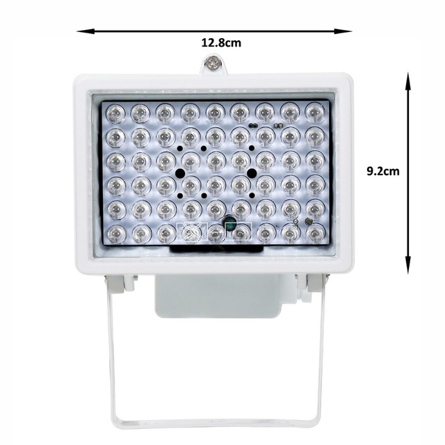 AZISHN CCTV 54 LED 12V 8W Night Vision IR Infrared Illuminator lamp Auxiliary lighting outdoor cctv fill light For CCTV Camera
