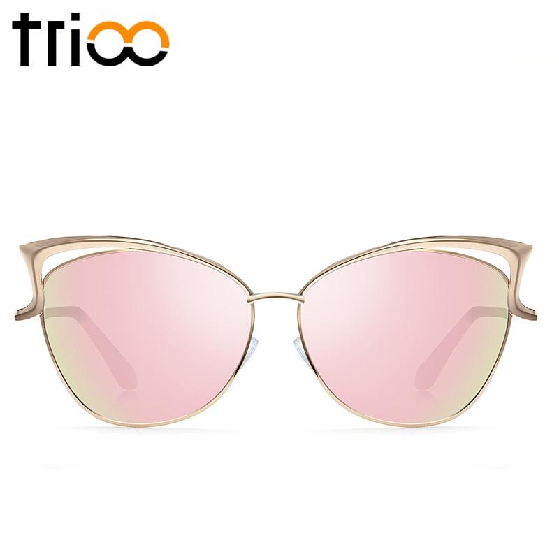 TRIOO Yüksək keyfiyyətli pişik gözlü qadın eynəyi gül - Geyim aksesuarları - Fotoqrafiya 2