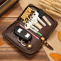 New Arrival Men Women Leather Zipper Car Key Holder Bag Multifunction Coin Purse Card Package Fashion Cards Wallets Keys Case