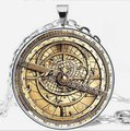 Drama Gravity Falls Mysteries BILL CIPHER WHEEL Pendant Necklace Steampunk glass doctor who 1pcs/lot mens astrolabe vintage 2017