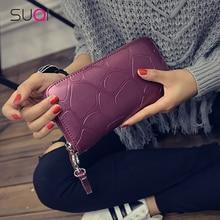 Female Wallet Phone-Case Money-Handbag Large-Capacity Card-Holders Fashion Women Pu