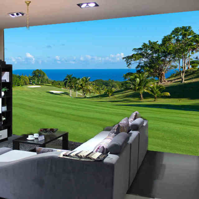 Custom any size 3D wall mural wallpapers for living roomGolf lawn