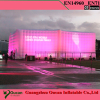 15x3x2 5m Oxford Cloth Inflatable Exhibition Wall With Blower Inside