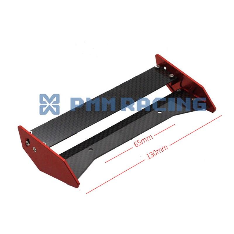 Genteel 1/10 Rc Crawler Car Cnc Carbon Fiber Rear Wing For 1/10 Axial Exo Terra Buggy Toys & Hobbies Remote Control Toys