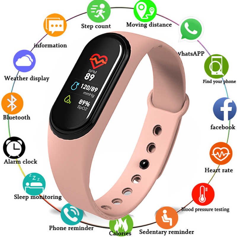 Più nuovo M4 Braccialetto Intelligente Per Il Fitness Tracker Intelligente Banda Heart Rate Monitor WhatsApp Facebook Promemoria