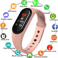 Neueste M4 Smart Armband Fitness Tracker Smart Band Heart Rate Monitor WhatsApp Facebook Erinnerung