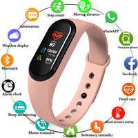 Nueva pulsera inteligente M4 rastreador de actividad banda inteligente Monitor de ritmo cardíaco WhatsApp recordatorio de Facebook