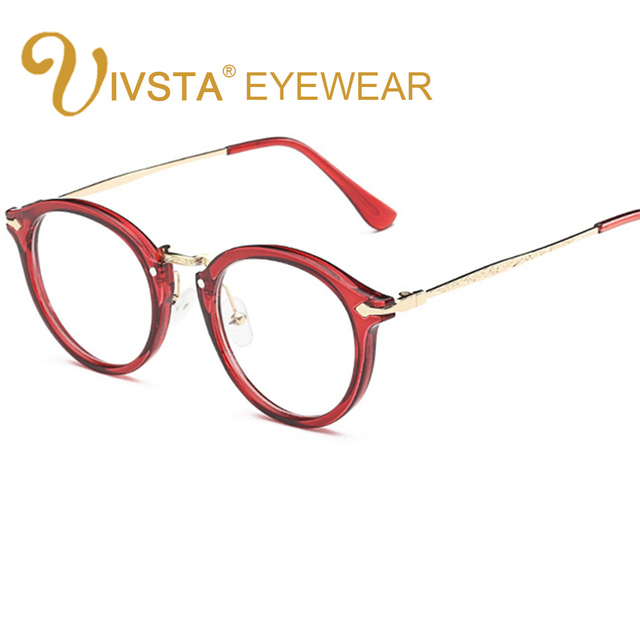 IVSTA Round Glasses Women Demi  Johnny Depp Brand Thom Round Optical Frame Retro Brown Eyeglasses Prescription Eyewear Men 9580