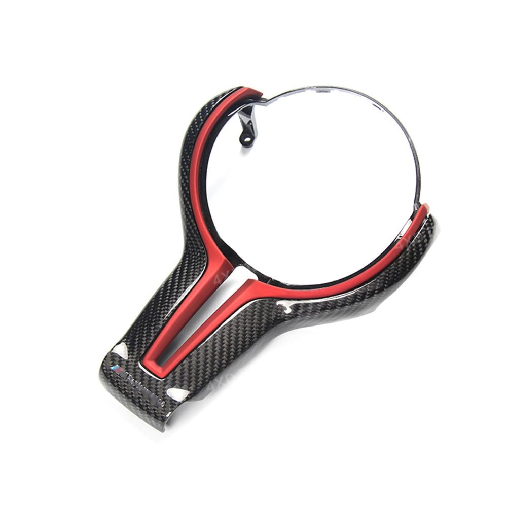For BMW M2 F87 M3 F80 M4 F82 M5 M6 F06 F12 F13 X5M F85 X6M F86 Carbon Fiber Steering Wheel Patch Trim Cover car interior parts car styling m carbon fiber leather pu steering wheel cover for bmw x1 x2 x3 x4 x5 x6 m1 m2 m3 m4 m5 m6 m7 series