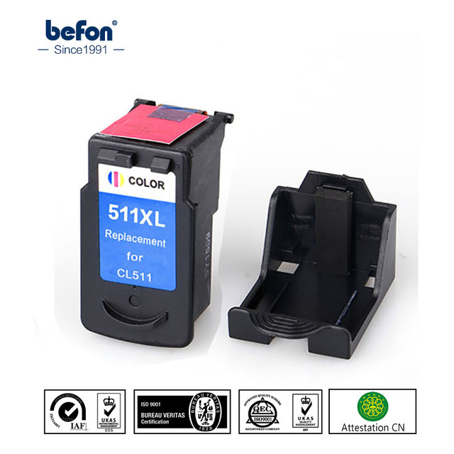 Befon Compatible 511XL Color Ink Cartridge Replacement For Canon CL511 CL 511 XL Pixma MP240
