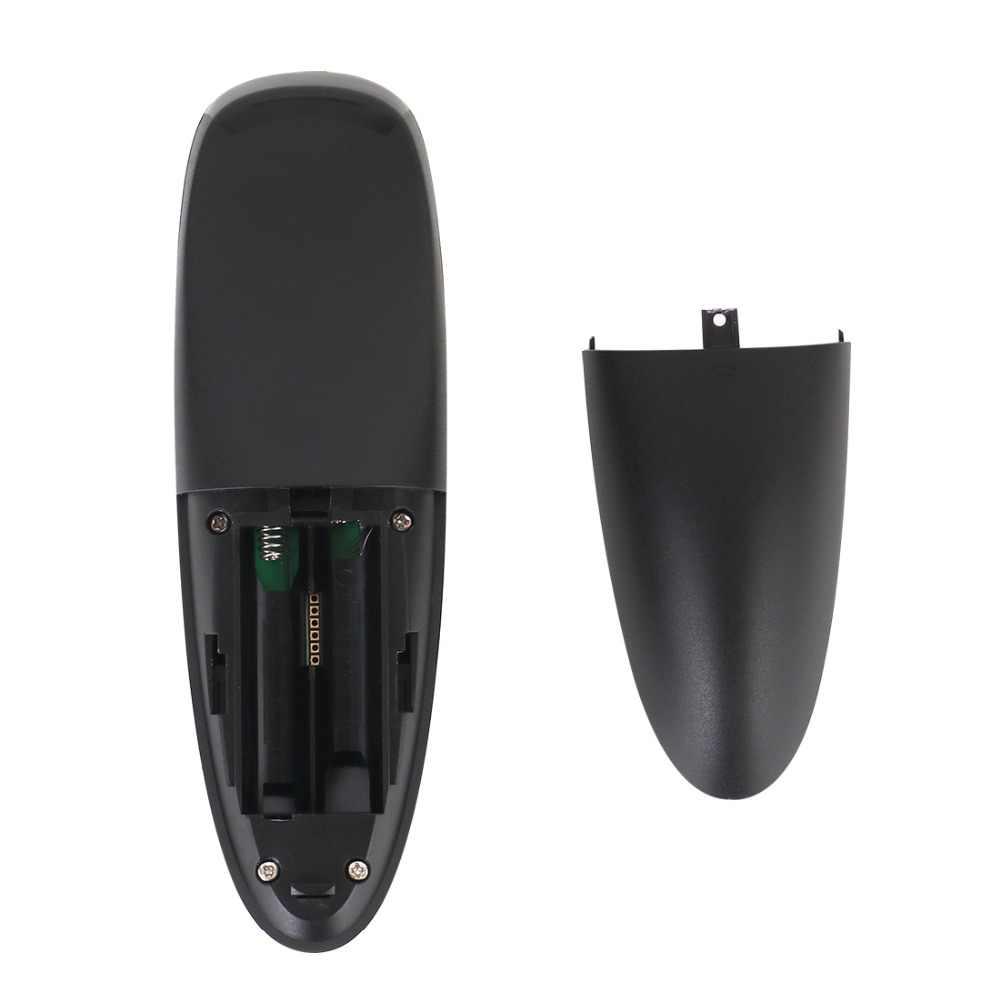 G10 Smart Voice Remote Control 2.4G RF Gyroscope Air Mouse Wireless dengan Mikrofon untuk X96 Mini H96 Max T95Q TX6 Android TV Box