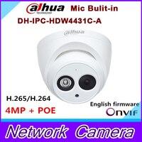 2016 New Arrival Dahua IPC HDW4431C A 4MP Full HD Network IR Mini Camera POE Built