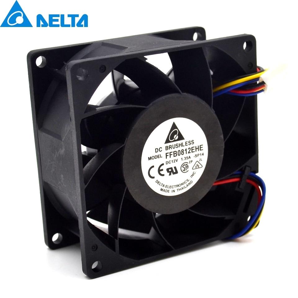 Brand new original AVC 2B08038B12H P122 8cm 8038 12V 1.71A large air volume server cooling fan