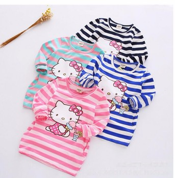 2018 Summer Girls Dress Hello Kitty Cartoon Kids Dresses For Girl Clothes 2-7Y Children Vestidos Costume Roupas Infantis Menina