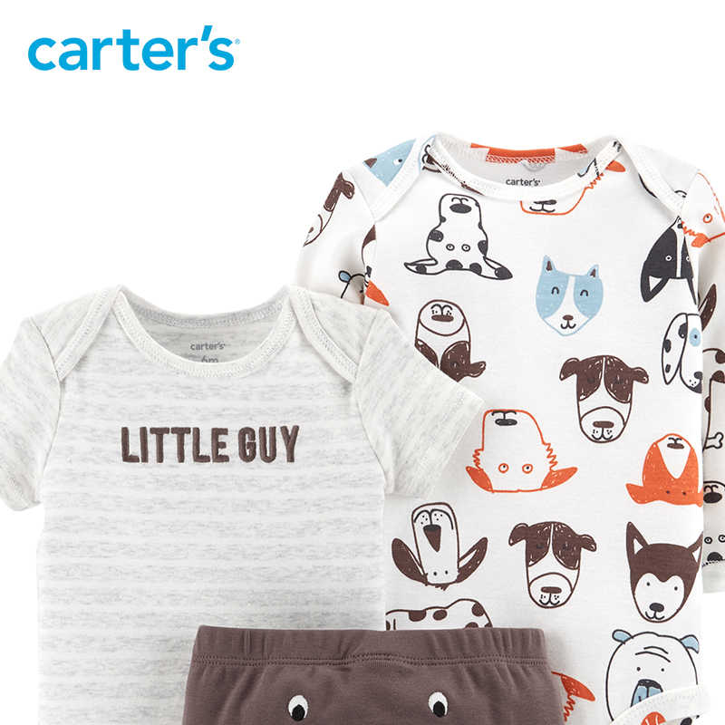 ... Carters 3-Piece Little Character Set Cute bodysuits long pant baby girl  autumn winter clothes ... b68a08542