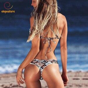 Image 2 - 2020 Sexy Bandage Bikini Frauen Push Up Bademode Low Taille Badeanzug Brazilian Bikini Set Badeanzüge Bademode Schwimmen Anzug XL