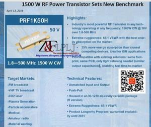 Image 3 - MRF1K50H PRF1K50H MRF1K50HR5 PRF1K50HR6 PRF 1K50H 1.8 500 MHz 1500 W CW 50V RF Transistor De Potência 1 pçs/lote