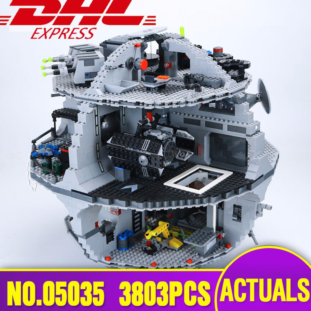 DHL LEPIN 05035 Star Series Wars Death Educational Building Block Bricks Toy Compatible Legoing 10188 Children