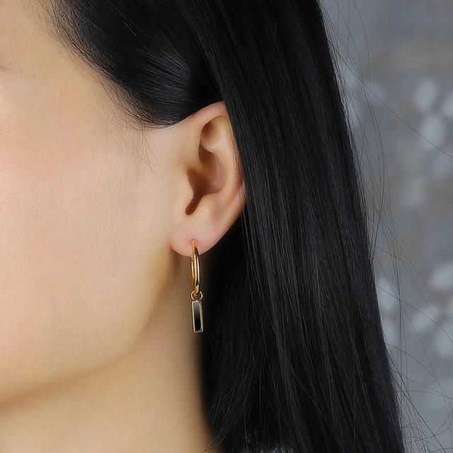 Rose gold statement Big geometric circle dangle drop earring