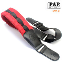 High Quality Soldier Cotton Leather Head Guitar Strap Electric Bass strap Comfortable Cotton Thickening and thicken