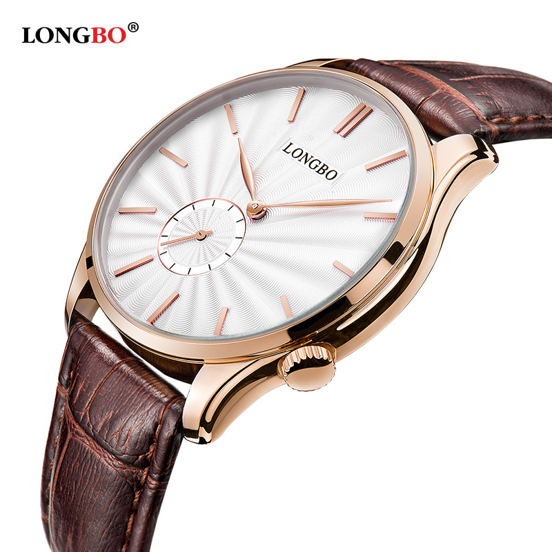 ФОТО LONGBO lovers Quartz Watch Women Men Couple Casual Watches Leather Wristwatches Fashion Casual Watches Gold Relogio Clock Hours