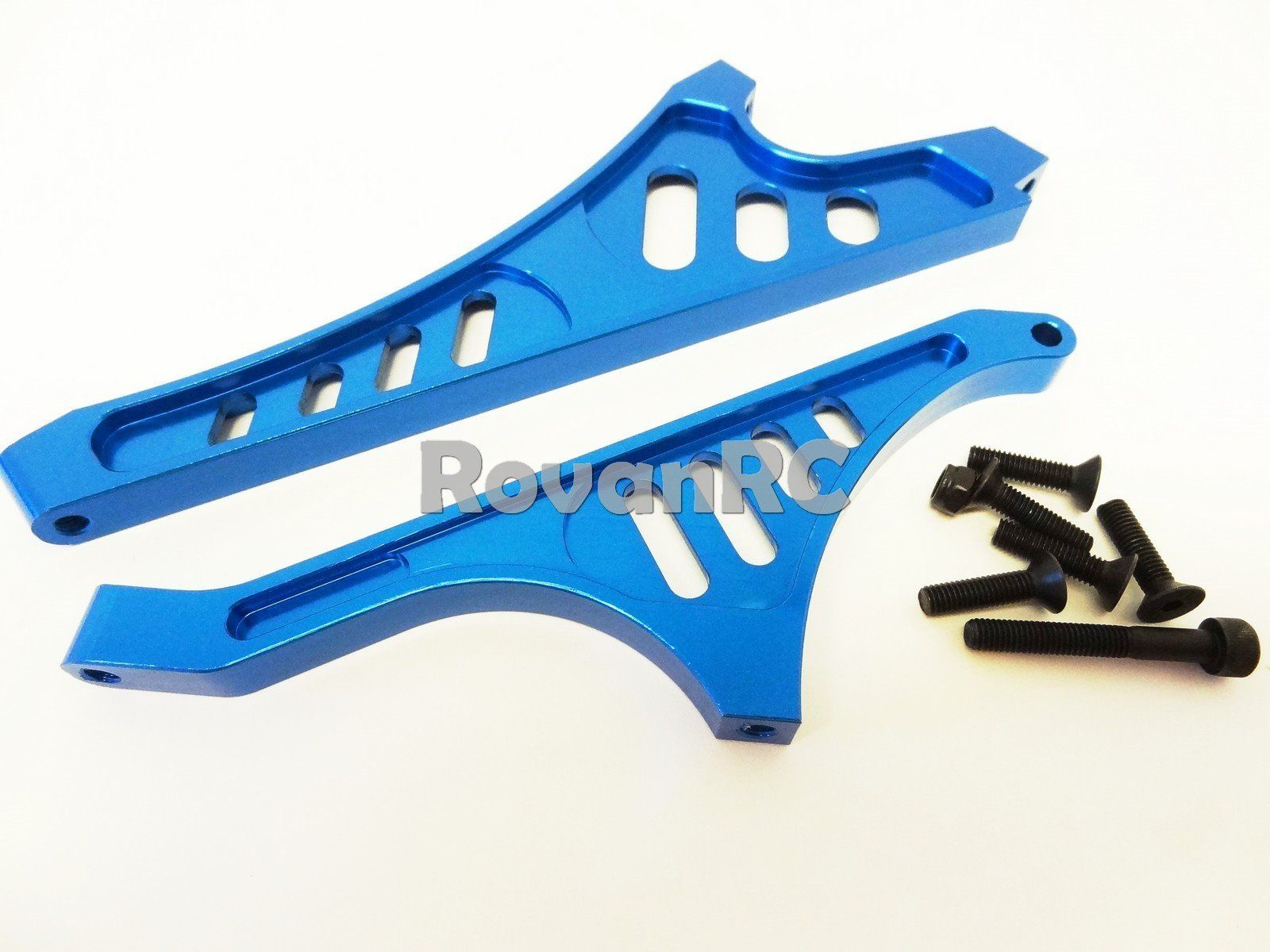 Rovan LT CNC Blue Aluminum Front Rear Chassis Braces LOSI 5IVE T King Motor X2