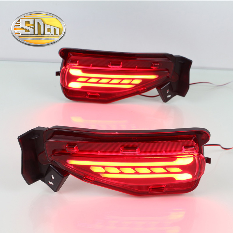 For Toyota Fortuner 2015 - 2017 SNCN Multi-function Car LED Rear Fog Lamp Bumper Light Brake Light Turn Signal Light Reflector new for toyota altis corolla 2014 led rear bumper light brake light reflector novel design top quality fast shipping