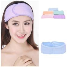 1 шт мытье лица макияж спа повязка для волос женские пот эластичные мягкие повязки на голову