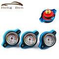 HB Corrida Medidor de Temperatura Com Utilidade segura 0.9 e 1.1 e 1.3 Bar Tampa Do Radiador Do Tanque de Água Temp Medidor Thermo cobrir