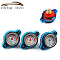 HB Racing Temperature Gauge With Utility safe 0.9 and 1.1 and 1.3 Bar Water Temp Gauge Thermo Radiator Cap Tank Cover