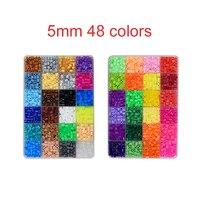 48 Color 5MM Hama Beads Perler Fuse Beads Box Set Kids DIY Creative Jigsaw Puzzle Educational