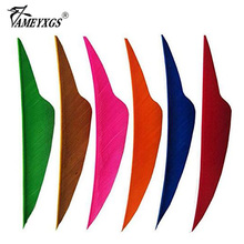 50PCS 4 Archery Shield Arrow Feather Right Wing Cut Vanes Natural Turkey Fletching For Hunting Shooting Arrows Accessory