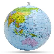 Надувной Глобус мир Земля Карта океана пляжный шар, обучающий развивающий пляжный мяч, детская игрушка, украшение для дома и офиса