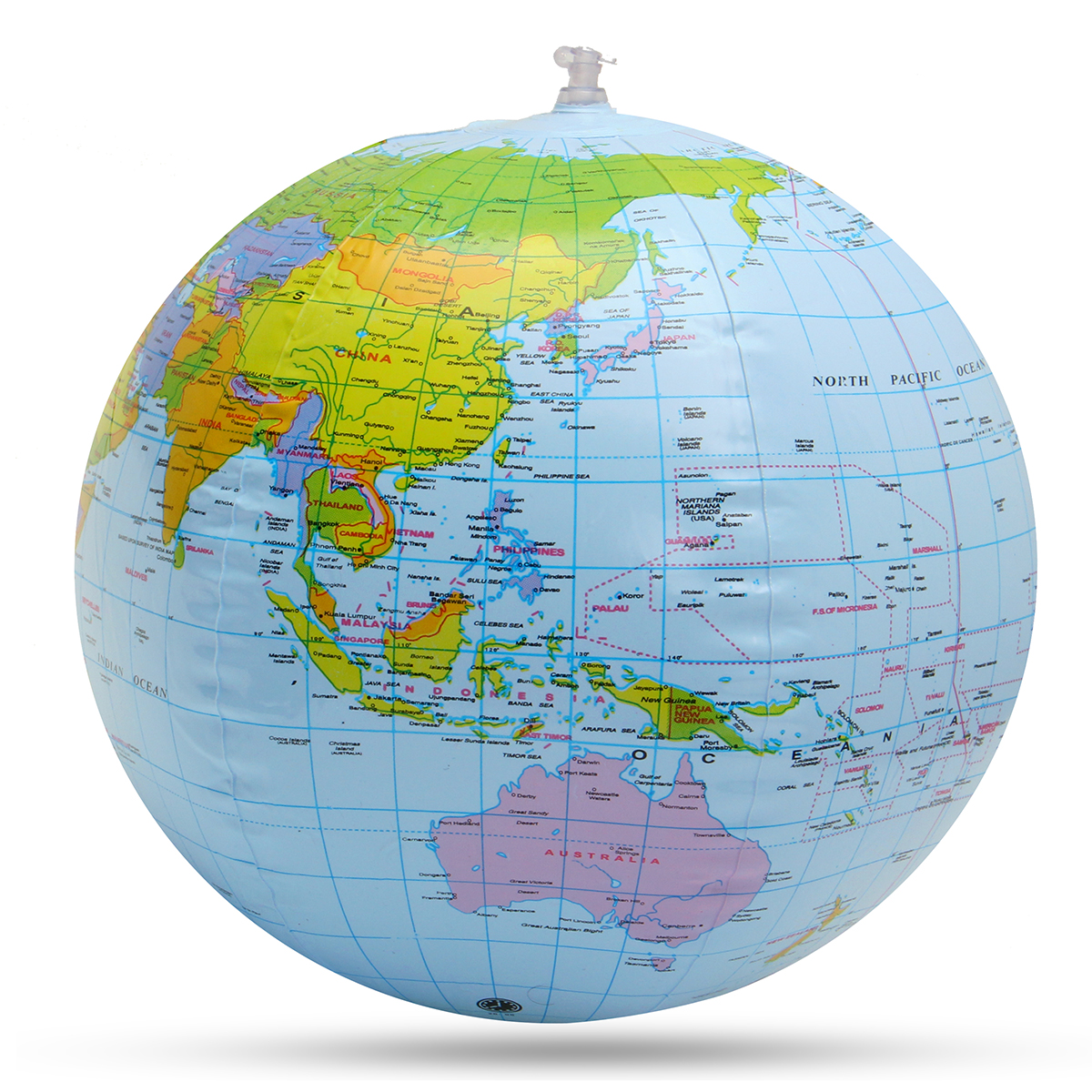 Inflatable Globe World Earth Ocean Map Beach Ball Geography Learning Educational Beach Ball Kids Toy Home Office Decoration