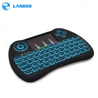 Colorful Backlight Mini Keybaord 2 4G Wireless Mini Keyboard Mouse Touchpad Remote Control For HTPC Android