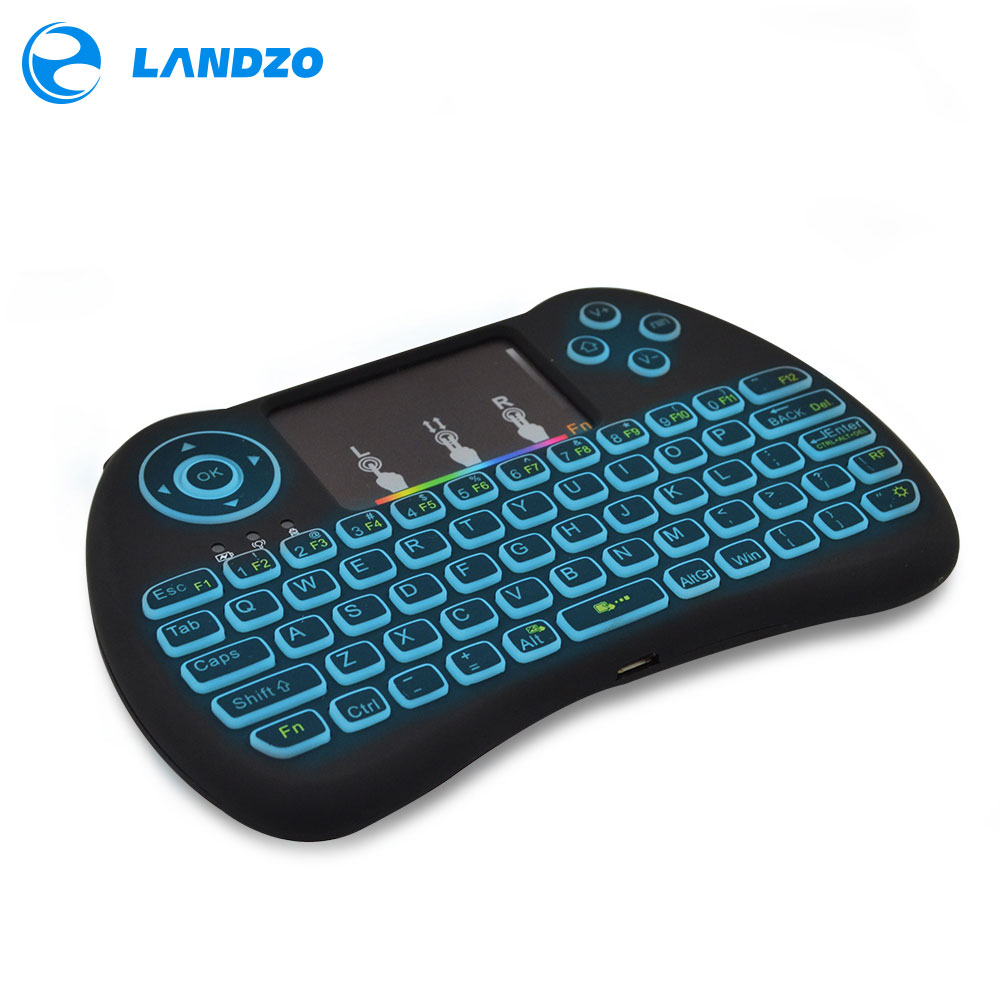 0e3173bf4ae Colorful Backlight Mini Keyboard 2.4G Wireless Mini Keyboard Mouse Touchpad  Remote Control for HTPC Android TV Raspberry Pi 3