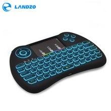 Красочные Подсветка мини-клавиатура 2.4 г Беспроводной мини-клавиатура Мыши Touchpad Дистанционное управление для HTPC Android ТВ Raspberry Pi 3