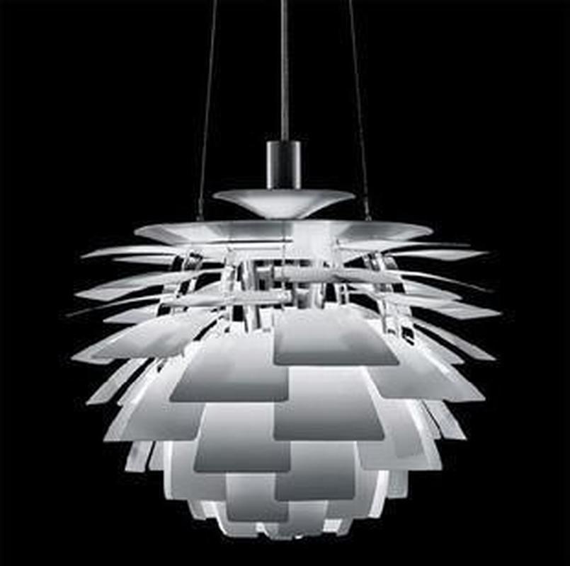 38/48CM Poul Henningsen PH Artichoke Pendant Light Modern Aluminum Lamp Dining room Lighting Fixture Silver lamparas colgantes