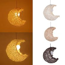 Pendant Lights Fixture Modern Hanging Ceiling Lamps Moon Shape Children Bedroom Chandelier Christmas Decorations for Home