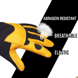 Image 3 - OZERO Deerskin Men Work Driver Gloves Leather Security Protection Wear Safety Workers Working Racing Garage Gloves For Men  8003