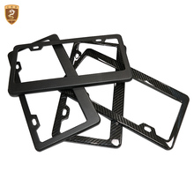 все цены на 2pcs/set License Plate Frame Full Real Carbon Fiber Front & Rear high quality Car auto number plate universal Vehicles Plate Hot онлайн